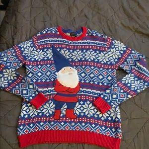 Men's medium sweater with gnome